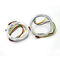 Ангельские глазки LED 80 мм 3528 51SMD White/Yellow (Белый/Желтый)
