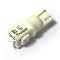 LED Galaxy T10 ( W5W ) CERAMIC 5050 5SMD Yellow (Желтый)