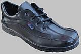 Туфли черные кожаные мужские на шнурках от производителя модель СЛ110, фото 2