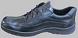 Туфли черные кожаные мужские на шнурках от производителя модель СЛ110, фото 3