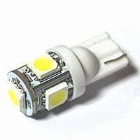 LED Galaxy T10 ( W5W ) 5050 5SMD White (Белый)