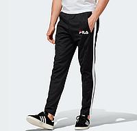 Демисезонные спортивные штаны для тренировок Fila Black (Фила)