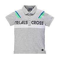 Рубашка поло для мальчика BRUMS  191BFFN007-825 серая 152-170