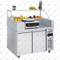 Холодильная рабочая станция + блинница однопостовая GGM Gastro ZBF127D#CGK40-1