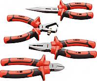 Набор шарнирно-губцевого инструмента 1000 В, 4 шт. 01-304