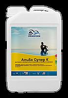 Непенящийся немецкий альгицид Альба Супер К 3 литра.Средство против водорослей в бассейне, Chemoform, Германия