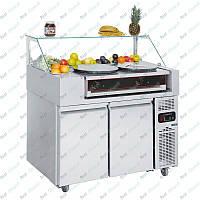 Холодильная рабочая станция + блинница двухпостовая GGM Gastro ZBF127D#CGK40-2