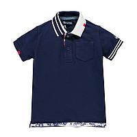Рубашка поло для мальчика 191BFFN015-276 синий 140