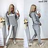 Женский спортивный костюм из двунити асиметричная кофта с капюшоном 42-44, 44-46, фото 3