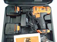 Шуруповерт аккумуляторный ТехАс ТА-01-170 (18 В) 2 скорости 2 батареи