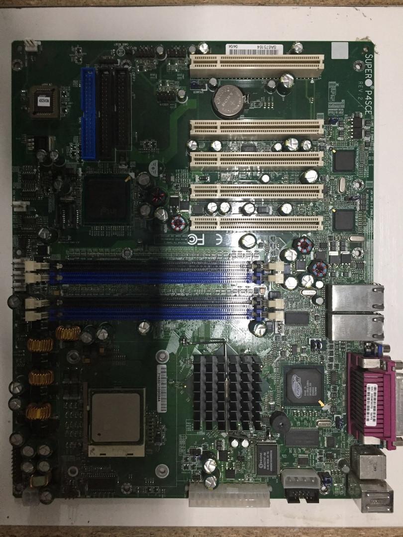 Серверная Материнская плата SuperMicro P4SCE сокет 478