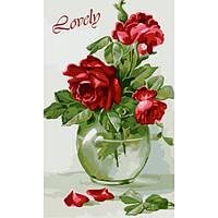 Картина по номерам Идейка - Чувственные розы 30x50 см (КНО2091)