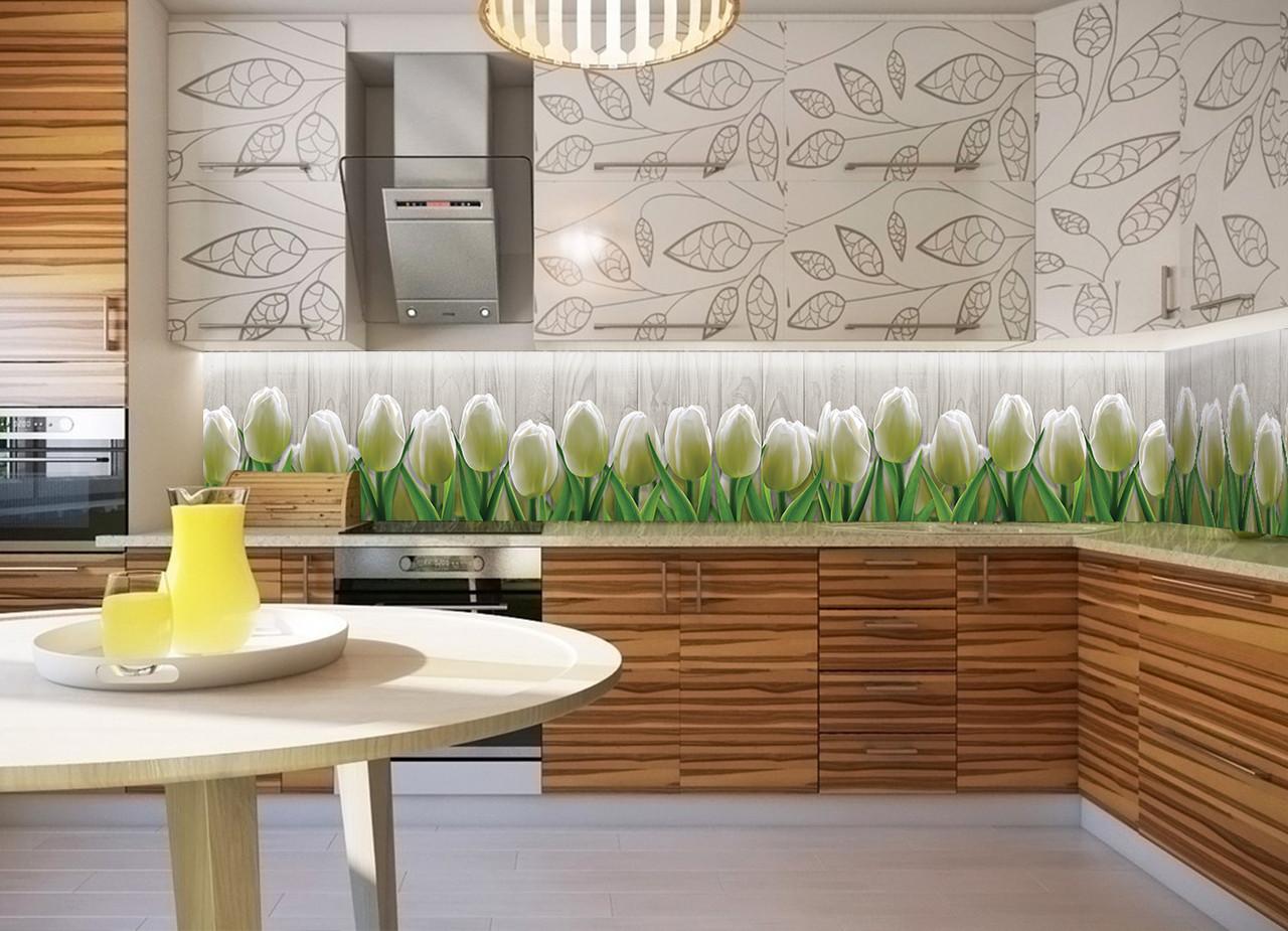 интересный дизайн кухни с тюльпанами фото мама