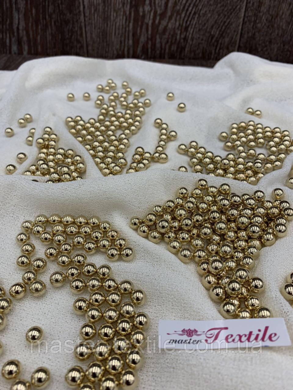 Бусины акриловые 10 мм золотые