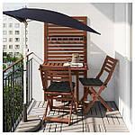 IKEA APPLARO Садовый пристенный стол, коричневая морилка  (802.917.31), фото 2