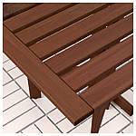 IKEA APPLARO Садовый пристенный стол, коричневая морилка  (802.917.31), фото 3
