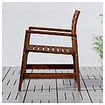 IKEA APPLARO Садовый стул с подлокотниками, коричневая морилка  (202.085.27), фото 2