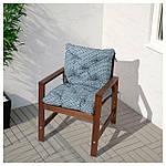 IKEA APPLARO Садовый стул с подлокотниками, коричневая морилка  (202.085.27), фото 3