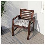 IKEA APPLARO Садовый стул с подлокотниками, коричневая морилка  (202.085.27), фото 4
