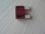 Предохранитель большой 35А 32V плоский штыревой 29х34мм Tesla Тесла вишневый корпус полупрозрачный 35а 32в, фото 6