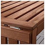 IKEA APPLARO Садовый стол и 2 скамейки, коричневая морилка  (390.539.31), фото 3