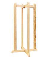 Підставка дерев'яна хрестова висока для встановлення диспенсера для води