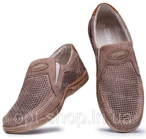Мужские светлые туфли Bastion