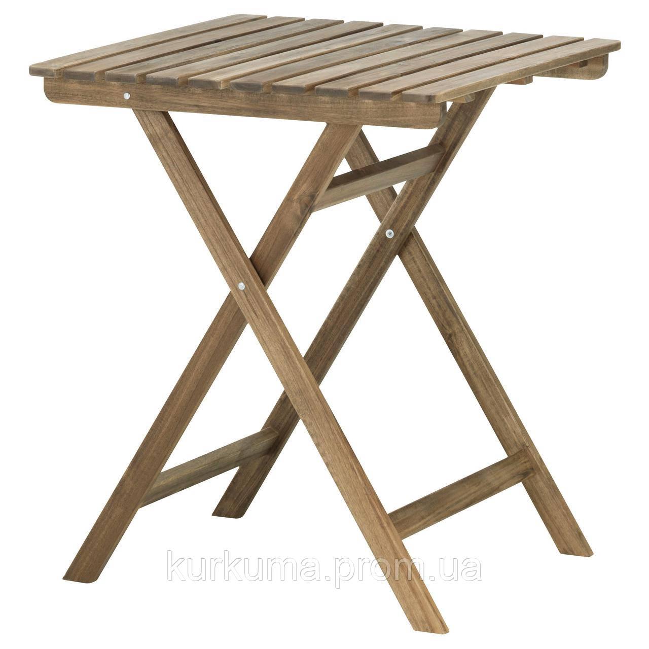 IKEA ASKHOLMEN Садовый пристенный стол светло-коричневый (602.400.35)