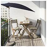 IKEA ASKHOLMEN Садовый пристенный стол светло-коричневый (602.400.35), фото 2