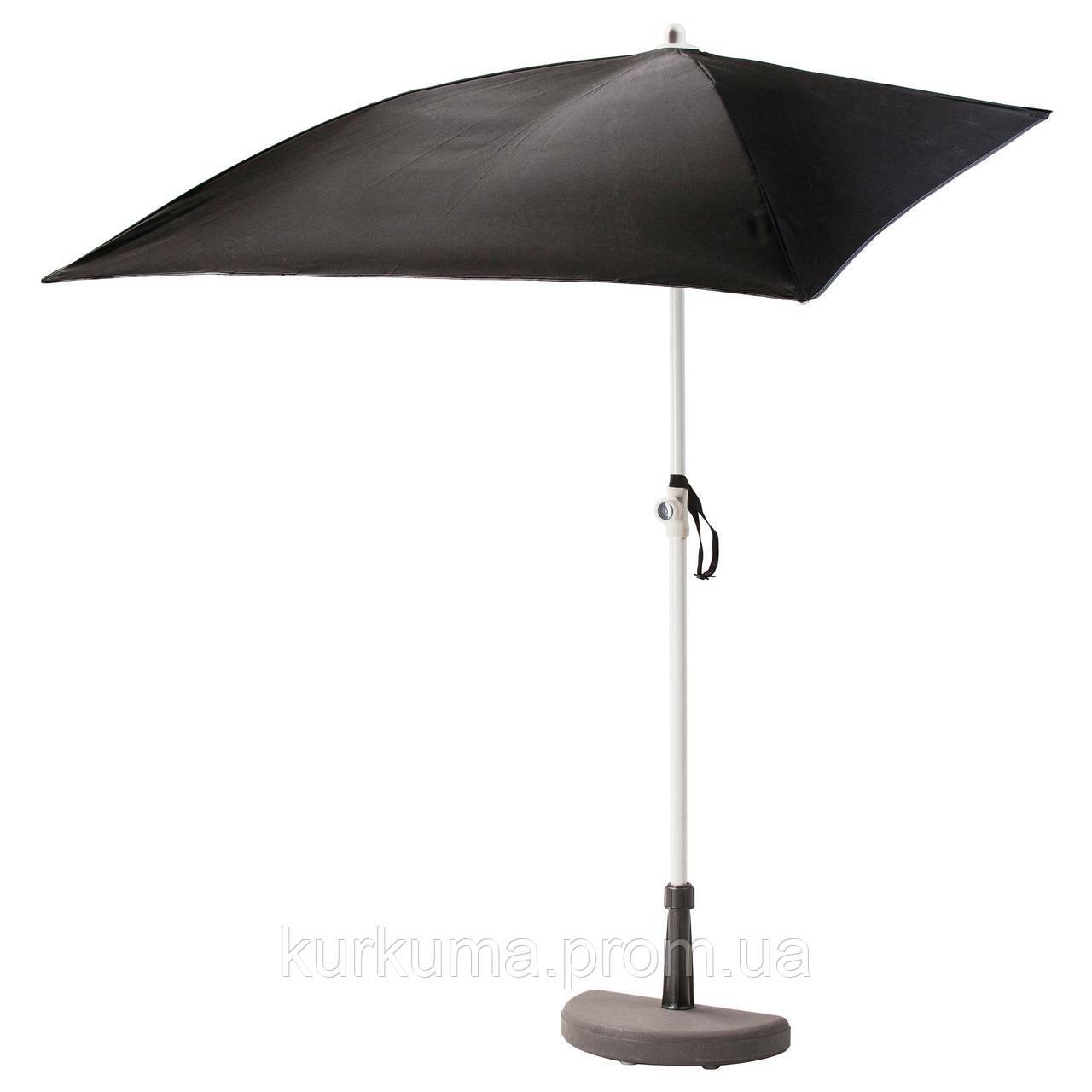 IKEA BRAMSON/FLISO Зонт с подставкой, черный  (290.109.75)