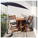 IKEA BRAMSON/FLISO Зонт с подставкой, черный  (290.109.75), фото 2