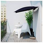IKEA BRAMSON/FLISO Зонт с подставкой, черный  (290.109.75), фото 3