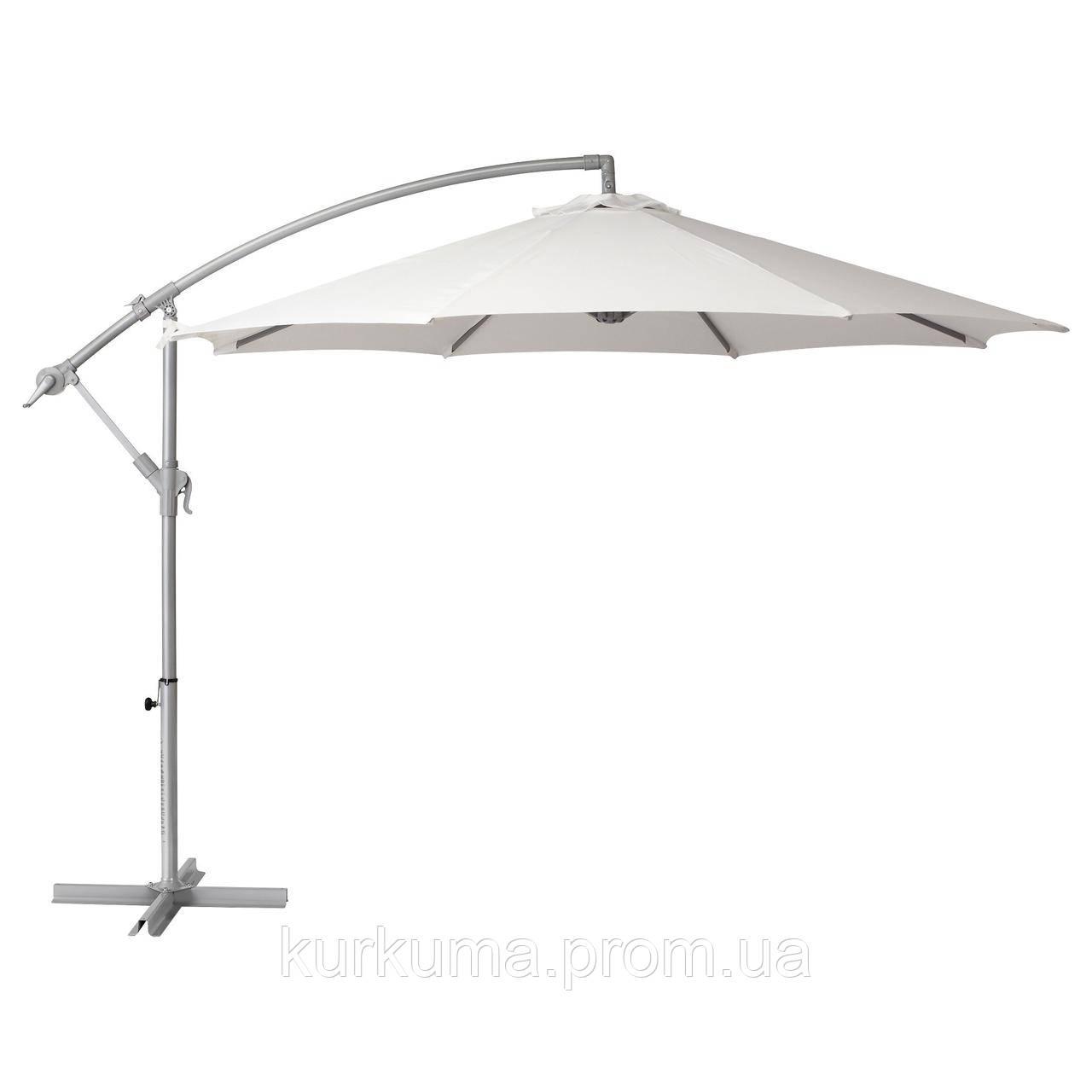 IKEA BAGGON Зонт подвесной, белый  (502.602.84)