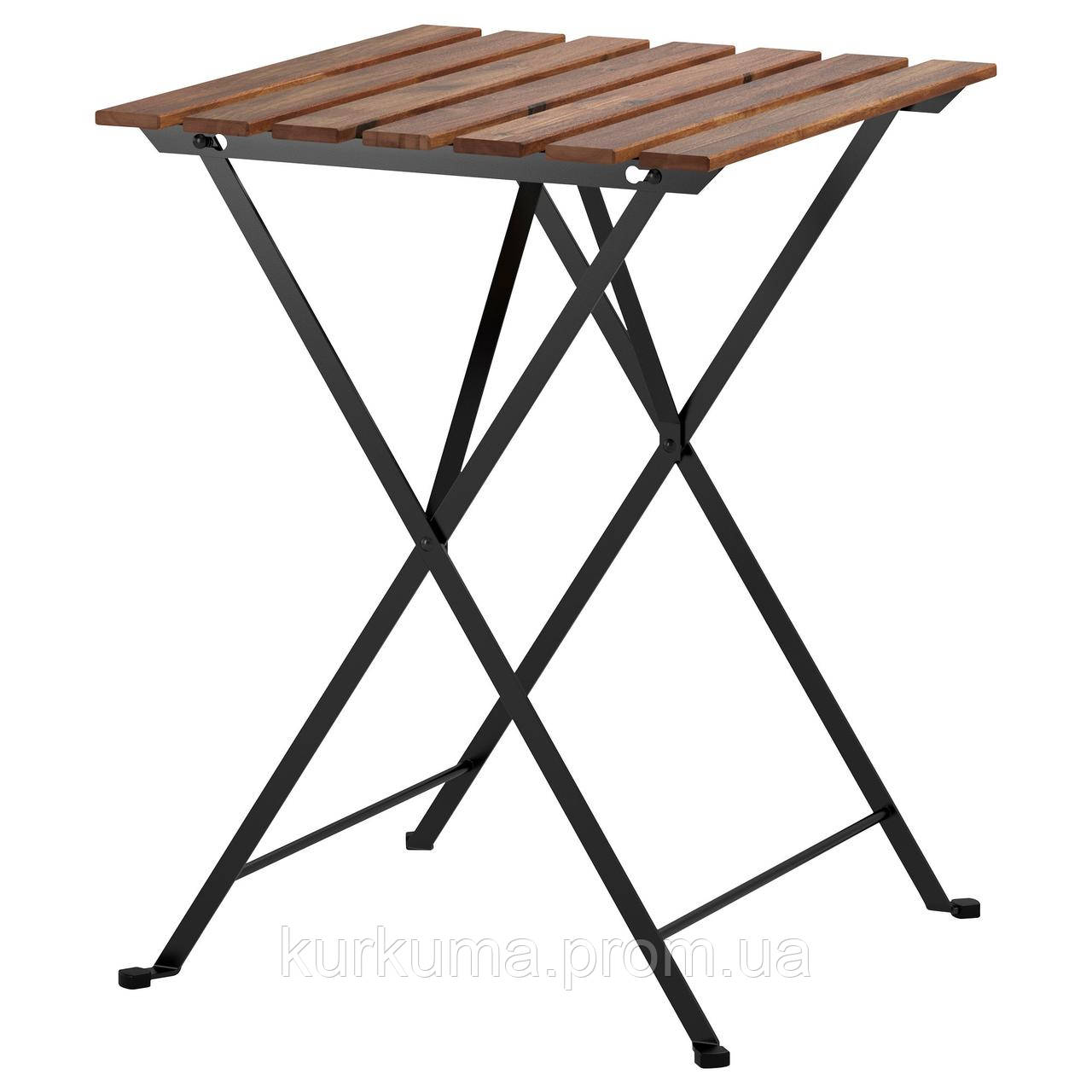 IKEA TARNO Садовый стол, черная Акация, сталь серо-коричневая морилка  (700.954.29)
