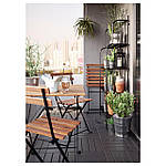 IKEA TARNO Садовый стол, черная Акация, сталь серо-коричневая морилка  (700.954.29), фото 3