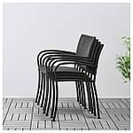 IKEA LACKO Садовый стул, серый  (401.604.78), фото 3
