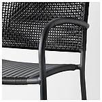 IKEA LACKO Садовый стул, серый  (401.604.78), фото 4