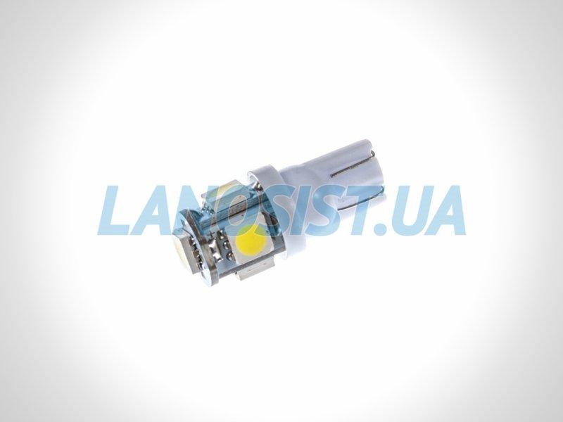 Лампа LED W5W 75Lm 5xSMD (5050) (белая) 10150.