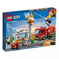 Конструктор LEGO City Пожар в бургер-баре (60214