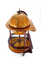 Глобус бар напольный угловой 42014R коричневый