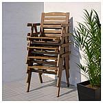IKEA FALHOLMEN Садовый стул, серо-коричневая морилка  (503.130.94), фото 2