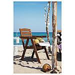 IKEA FALHOLMEN Садовый стул, серо-коричневая морилка  (503.130.94), фото 4