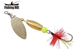 Блешня-вертушка Fishing Roi Teeny Spoon 2,6 гр. колір-001 Red Fly
