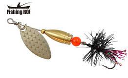 Блешня-вертушка Fishing Roi Teeny Spoon 2,6 гр. колір-001 Fly Black