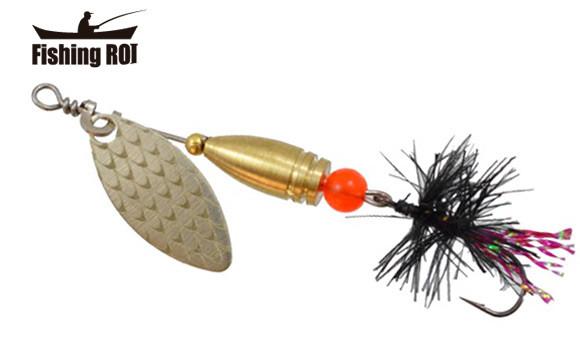Блесна-вертушка Fishing Roi  Teeny Spoon 3,6гр. цвет-001 Fly Black