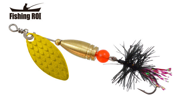 Блешня-вертушка Fishing Roi Teeny Spoon 2,6 гр. колір-002 Black Fly