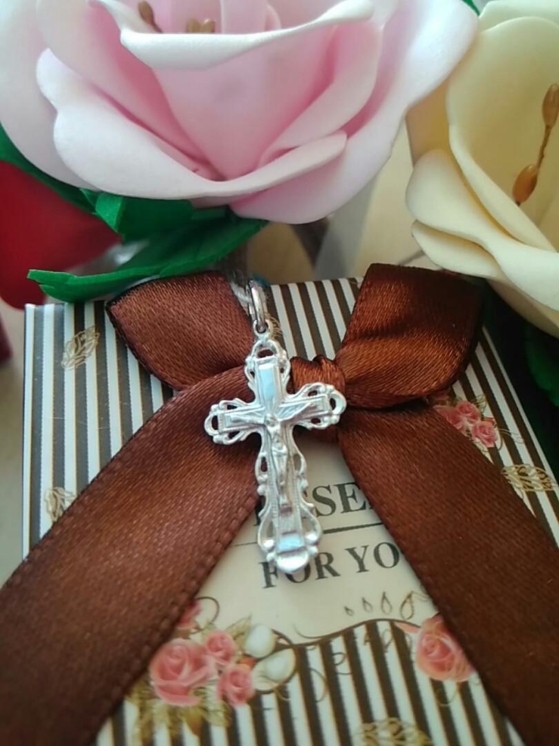 Крестик серебряный 925 пробы