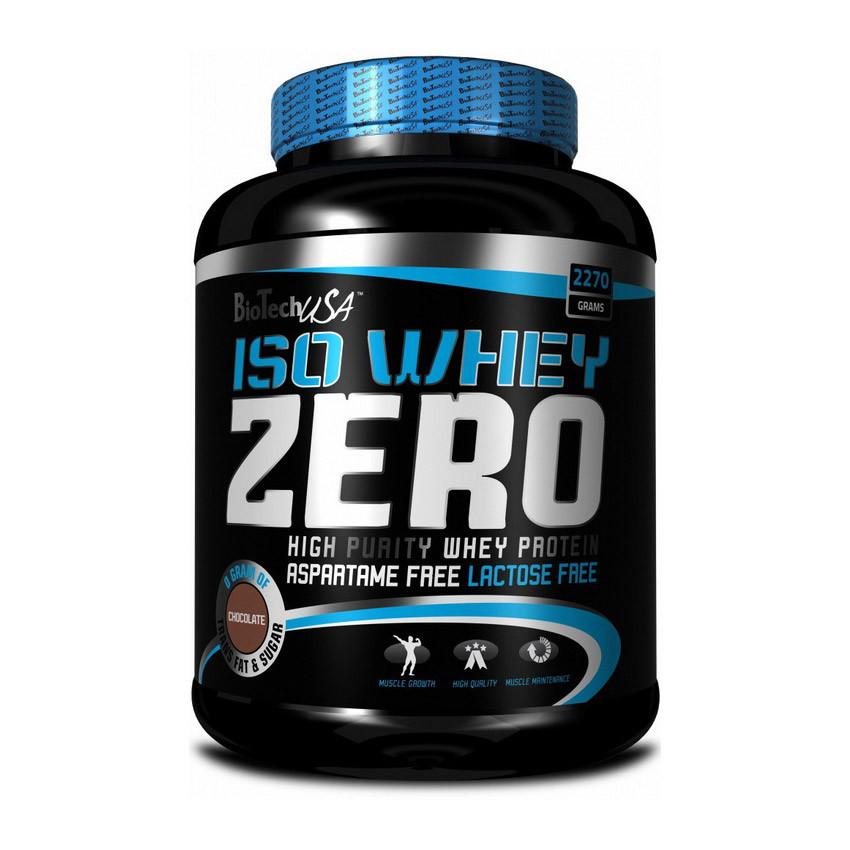 Протеин изолят без сахара BioTech Iso Whey Zero lactose free 2,27 kg