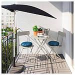 IKEA SALTHOLMEN Садовый стол и 2 раскладных стулья, бежевый, Иттерон синий  (091.838.25), фото 2