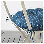 IKEA SALTHOLMEN Садовый стол и 2 раскладных стулья, бежевый, Иттерон синий  (091.838.25), фото 3